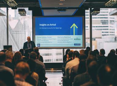 Analytics Expert giving presentation on Insights