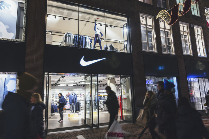 Nike sports fashion store in Amsterdam