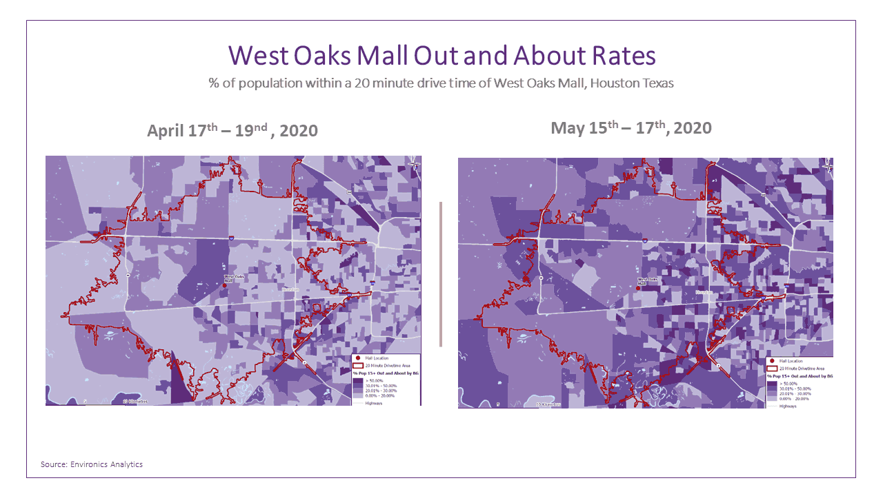 west-oakes-mall-texas-out-and-about-drivetime-map