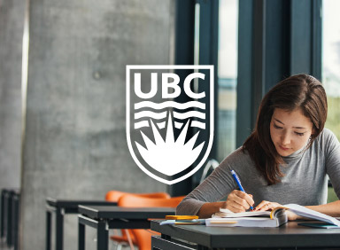University student studying on campus bench