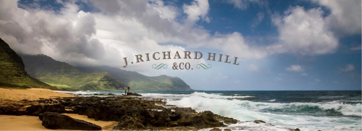 Header image of beach for J. Richard Hill case study