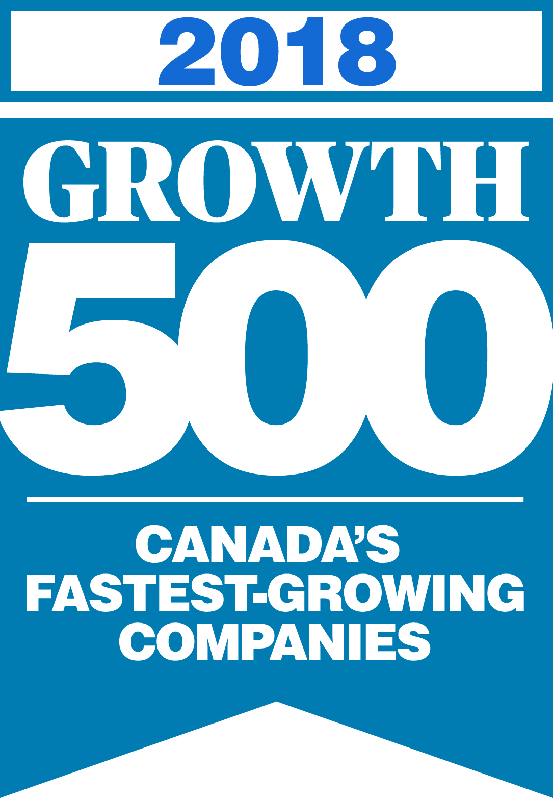 Growth 500 Logo 2018 Blue