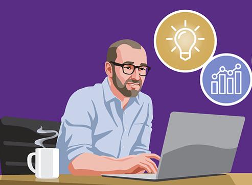 EA Male Geek Using Laptop