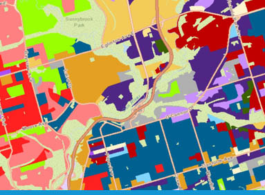 Map output from ENVISION5 Business Intelligence Platform