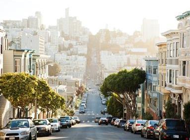 Prime real estate street in San Francisco