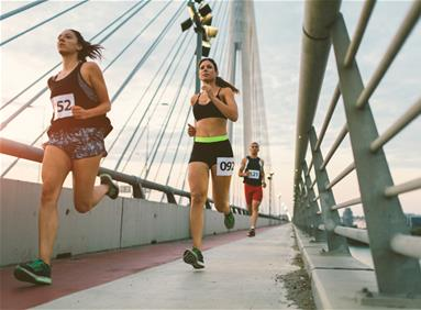 Runners in a race to beat cancer