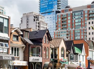Downtown Toronto commercial and residential real estate market