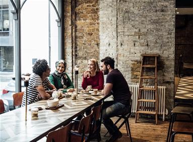 Restaurant serving millennial customers