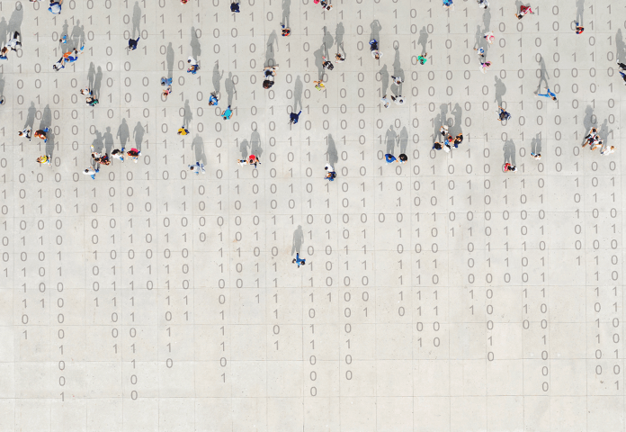 aerial photograph of people