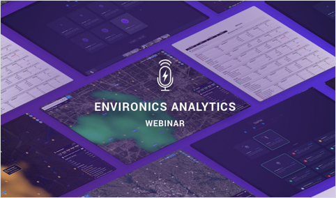 Environics Analytics Webinar with purple screens as background