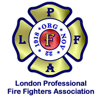Logo for the London Ontario Fire Fighter Assoication